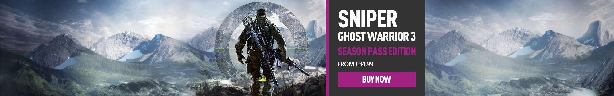 Sniper Ghost Warrior 3 for PlayStation 4, Xbox One and PC - Homepage Banner