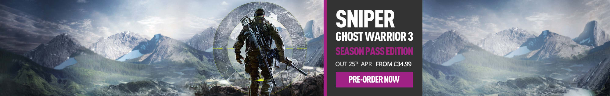 Sniper Ghost Warrior 3 for PlayStation 4, Xbox One and PC