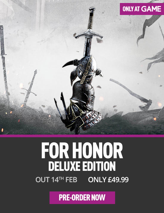 For Honor Deluxe Edition on Xbox One - Only at GAME - Pre-order now at GAME.co.uk