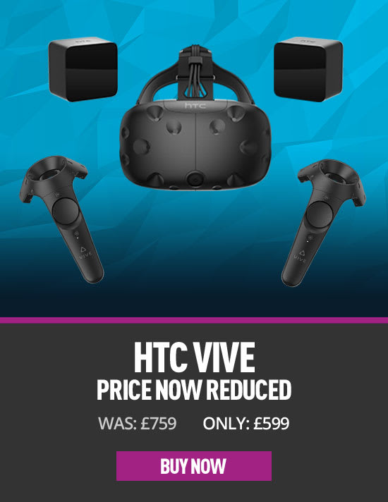 HTC Vive now £599 - Buy Now at GAME.co.uk