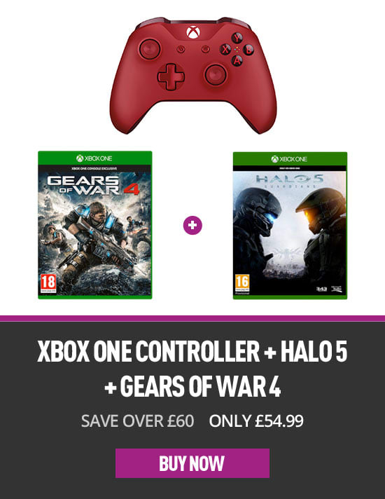 Xbox One Controller with Halo 5 and Gears of War 4
