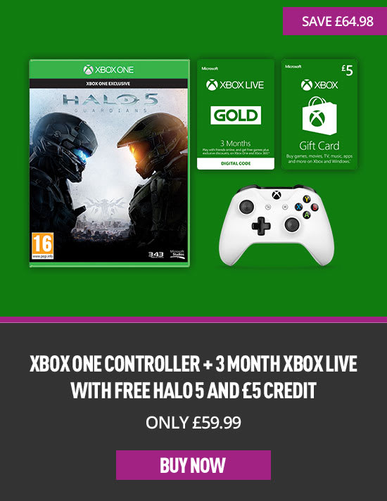 Xbox One Controller, 3 months Xbox Live and Free Halo 5 and £5 Credit