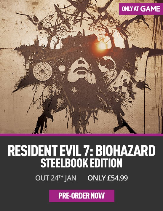Resident Evil 7 Steelbook Edition on Xbox One - Only at GAME - Pre-order Now at GAME.co.uk