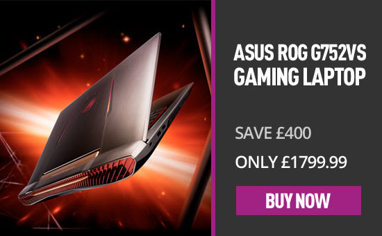 ASUS ROG G752VS 17.3 Gaming Laptop - Now Only £1799.99 - Save £400 - GAME.co.uk
