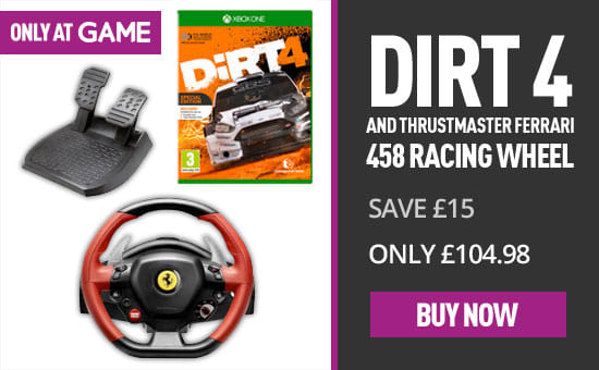 Dirt 4 Thrustmaster - Buy Now at GAME.co.uk