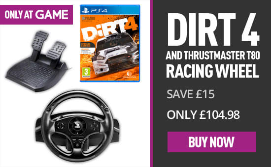 DiRT4 and Thrustmaster T80 - Buy Now at GAME.co.uk