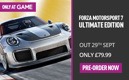 Forza Motorsport 7: Ultimate Edition with Only at GAME Porsche Pre-order Bonus on Xbox One at GAME.co.uk