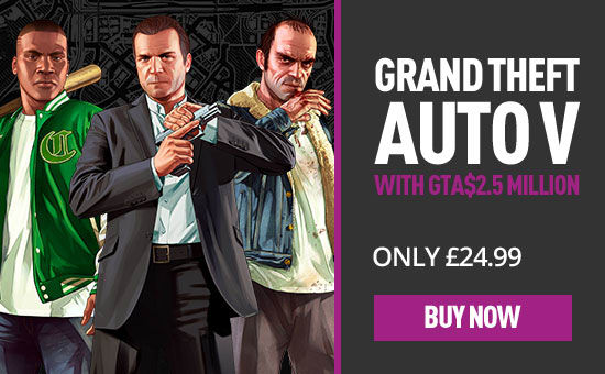 Grand Theft Auto V with $2.5Million Shark Cards at GAME.co.uk