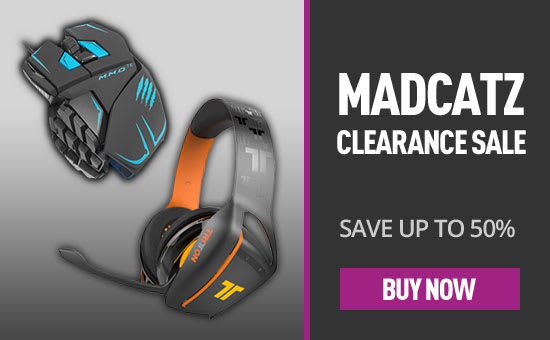 MadCatz Accessory Clearance - Save up to 50% - Buy now at GAME.co.uk