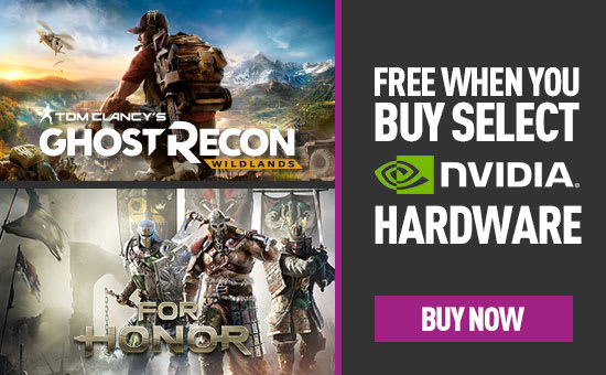 For Honor or Tom Clancy's Ghost Recon Wildlands Free When You Buy Select Nvidia GeForce 10 Series Hardware - Buy Now at GAME.co.uk!