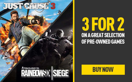 Pre-owned 3 for 2 on selected PlayStation 4 and Xbox One Games - Buy Now at GAME.co.uk