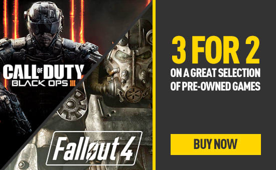 Pre-owned 3 for 2 on PlayStation 4 and Xbox One games