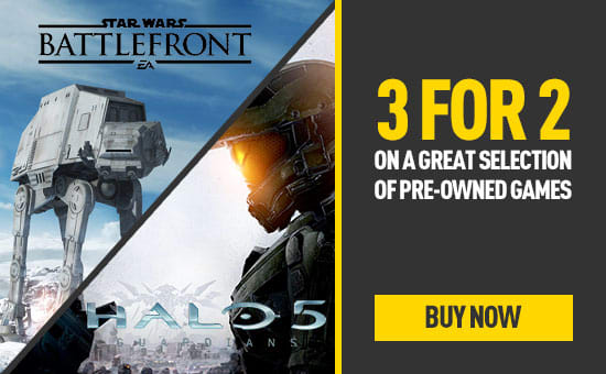 Pre-owned 3 for 2 on Xbox One games
