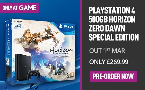 Horizon Zero Dawn Playstation 4 Special Edition Console - Pre-order Now at GAME.co.uk