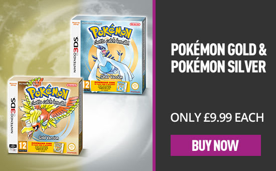 Pokemon Gold and Pokemon Silver - Out Now at GAME.co.uk! - eSpot
