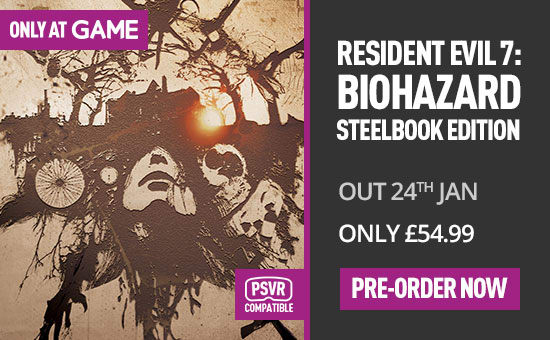 Resident Evil 7 Steelbook Edition on PS4 - Only at GAME - Pre-order Now at GAME.co.uk
