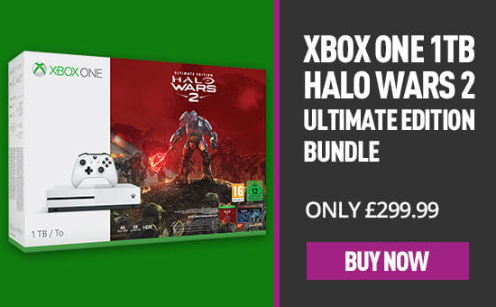 Xbox One S 1TB with Halo Wars 2 Ultimate Edition - Only at GAME - Buy Now at GAME.co.uk