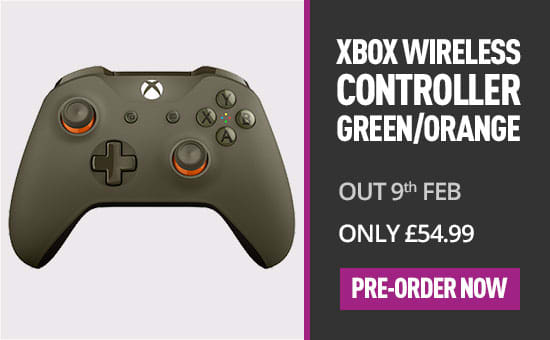 Xbox One Wireless Controller Green Orange - Pre-order Now at GAME.co.uk