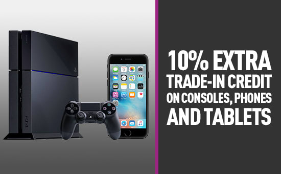 Nintendo Switch half price when you trade-in selected consoles, phones & tablets - Find out more at GAME.co.uk!