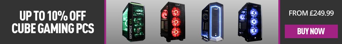 Cube Gaming PCs - Up to 10% Off