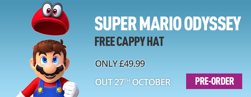 Pre-order Super Mario Odyssey at GAME.co.uk! - Homepage Banner
