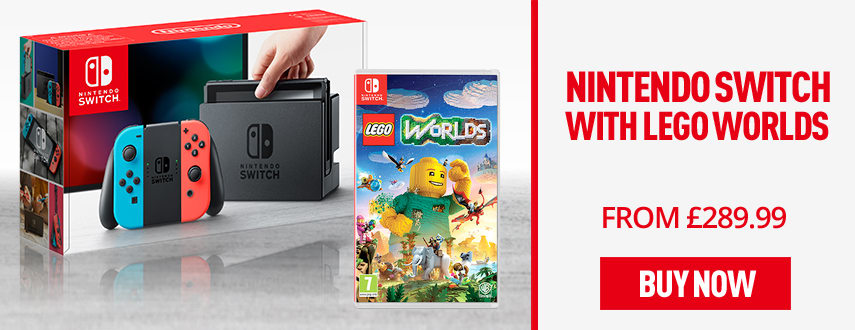 Nintendo Switch Neon with LEGO Worlds - Only £289.99 - Homepage eSpot