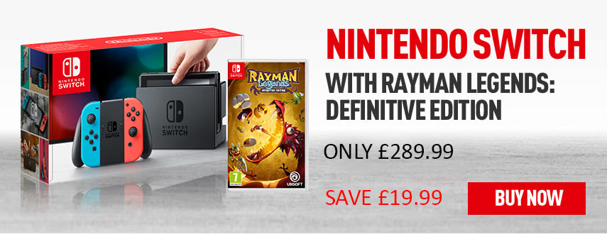 Nintendo Switch Neon with Rayman Legends: Definitive Edition - Only £289.99 - Homepage eSpot