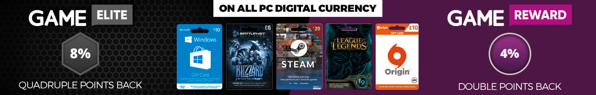 Earn Double Points on PC Digital Currency with GAME- Homepage Skinny Banner