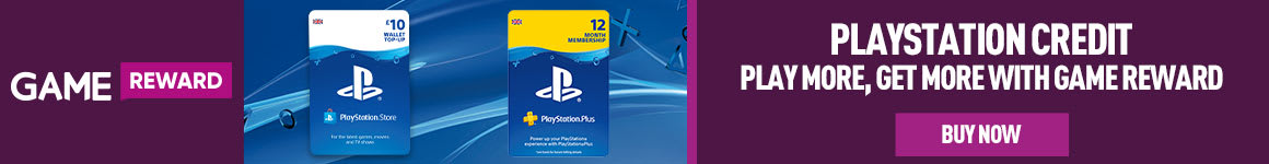 Earn Game Reward Points when you purchase PlayStation Credit & Subscriptions at GAME.co.uk