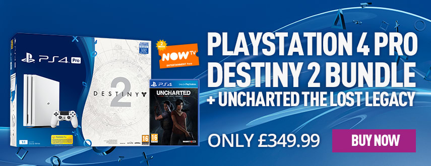 Playstation 4 Pro Destiny 2 Bundle with Uncharted the Lost Legacy and Now TV - Only £349.99 - Homepage eSpot