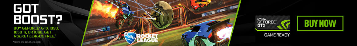 Rocket League included with select NVIDIA 10 Series PCs and Graphics Cards - Buy Now at GAME.co.uk