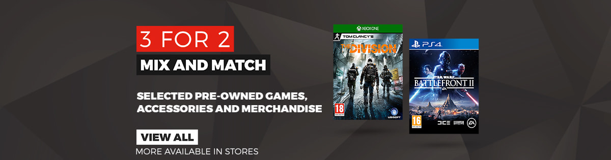 3 for 2 on Pre-owned Games, Accessories & Merchandise