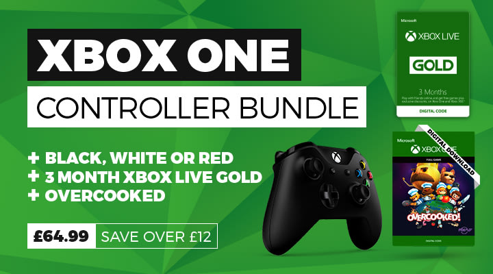 Xbox One Controller with Xbox Live Gold Bundle
