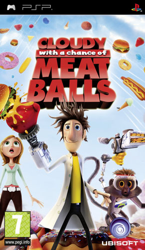 CLOUDY WITH A CHANCE OF MEATBALLS psp game 343112ps_500h