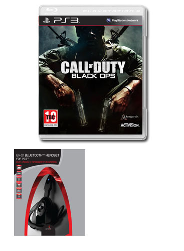 Call of Duty: Black Ops with Gioteck Bluetooth Wireless Headset (PS3)