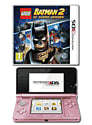 Nintendo 3DS Coral Pink with LEGO Batman 2