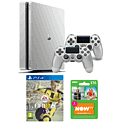 Playstation 4 500GB Limited Edition Silver Console with FIFA 17 and NOW TV 3 Month Entertainment Pass
