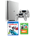 Playstation 4 500GB Limited Edition Silver Console with Wipeout and NOW TV 3 Month Entertainment Pass