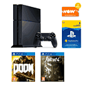Preowned PS4 500GB Bundle (Fair Condition) with 3 Month PS Plus and Now TV 2 Month Entertainment pass