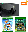 Xbox One X with Minecraft: Story Mode Season 2 + Super Lucky's Tale and NOW TV 2 Month Entertainment Pass