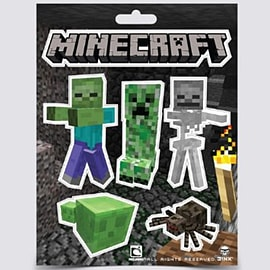 Minecraft Friends and Enemies Sticker Set Trading Cards
