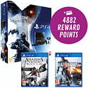 PS4 with Killzone Shadow Fall, PS Eye Camera, 2 Controllers, Assassins Creed IV, Battlefield 4, Need for Speed & Call of Duty