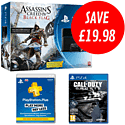 PlayStation 4 with Assassin's Creed IV: Black Flag, Call of Duty: Ghosts and PlayStation Plus 12 Month Membership