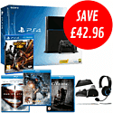 PlayStation 4 with  InFamous: Second Son. Man of Steel, Pacific Rim and The Conjuring Blu-Rays and GameWare Starter Pack