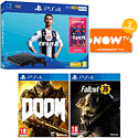 PlayStation 4 With Grand Theft Auto V, The Last Of Us Remastered Download, Destiny Vanguard Edition & 12 Months PlayStation Plus