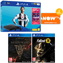 PlayStation 4 With Grand Theft Auto V, The Last Of Us Remastered Download & 3 Blu-Rays