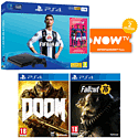 PlayStation 4 With Far Cry 4, The Last Of Us Remastered Download & 3 Blu-Rays