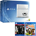 White PlayStation 4 Console With LittleBigPlanet 3 Extras Edition & The Last Of Us Remastered Download