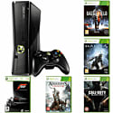Preowned Xbox 360 4GB Slim (Grade C) with Battlefield 3, Call of Duty: Black Ops, Halo 4, Forza 3 & Assassin's Creed III