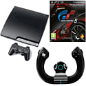 Preowned PlayStation 3 320GB Slim with Gran Turismo 5 and Gioteck FR1 Wireless Racing Wheel